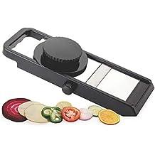 Ganesh Adjustable Plastic Slicer, 1-Piece, Black/Silver