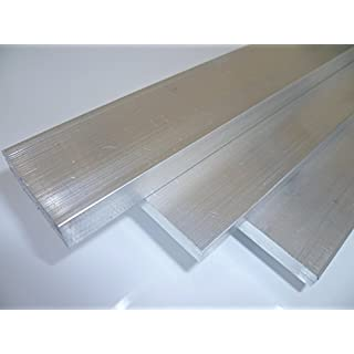 B&T Metall Aluminium Flach eloxierfähig, schweißbar, roh, unbehandelt | Maße 40 x 5 mm, Länge ca. 2,0 m