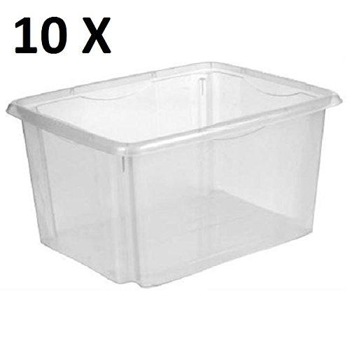 10 Stück Dreh Stapelbox 24 l, Plastikbox Aufbewahrungsbox Multibox Box Lagerbox Kiste