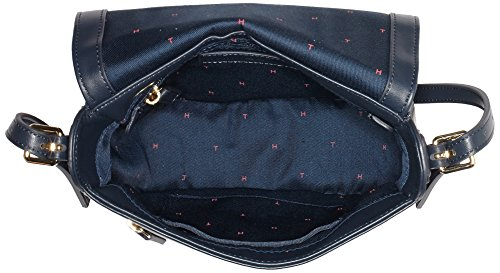 Tommy Hilfiger Cherry Saddle Bag, Sac Femme, 8x20x22 cm Multicolore (Midnight Mix)