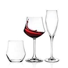 Idea Regalo - RCR EGO Set Vetro, 12 Bicchieri, 12 Calice vino 12 calice Spumante, 36 Pezzi Made in Italy