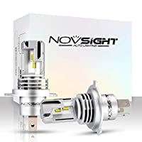 NOVSIGHT H4/9003/HB2 10000LM 60W Super Bright LED Headlight Conversion Kit, DOT Approved, Patented headlight bulbs, Halogen Headlight Replacement, 6000K Cool White (pack of 2)