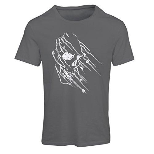 lepni.me Maglietta Donna Art Skull - Vintage t Shirts (XX-Large Grafite Multicolore)