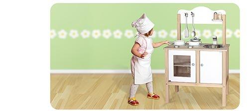 Viga Kitchen Noble Wooden Toy (White)