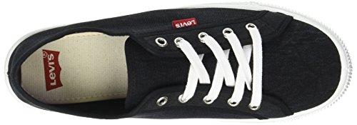 Levis Malibu, Sneaker Uomo Nero (Noir Regular Black)
