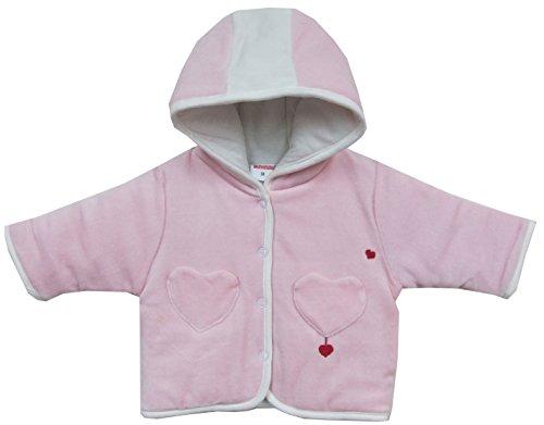 Schnizler Baby - Mädchen Jacke Kapuzenjacke Nicki Herzchen, wattiert, Gr. 74, Rosa (original 900)