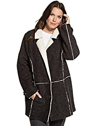 Ulla Popken Women's Plus Size Cozy Lined Sherling Jacket 712222