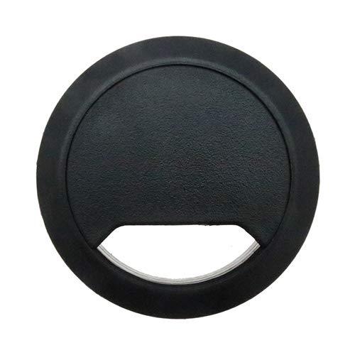 Schwarz Schreibtisch Tülle (5Schwarz Schreibtisch Kabelkanal-60mm-Tüllen Schreibtisch, Schreibtisch Loch fügt, Ordnung und organisieren Büro Kabel)