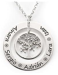 Silver & Steel - Colgante Árbol de la Vida en Plata con Dos Aros - 1501/7693