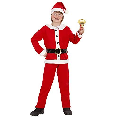 Für Jungen Santa Kostüm - Widmann - Kinderkostüm Weihnachtsmann aus Flanell