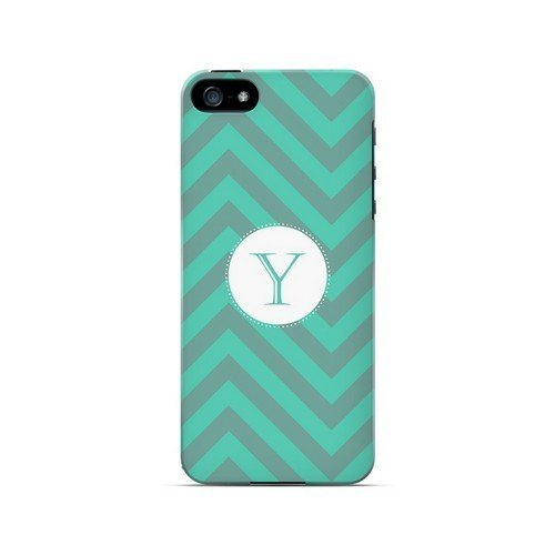 [Geeks Designer Line] Seafoam Green Y on Zig Zags Apple iPhone 5 Plastic Case Cover [Anti Slip] Supports Premium High Definition Anti-Scratch Screen Protector; Durable Fashion Snap on Hard Case; Coolest Ultra Slim Case Cover for iPhone 5 Supports Apple 5 Devices From Verizon, AT&T, Sprint, and T-Mobile