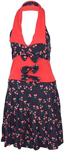 Küstenluder Damen Kleid Mable Kirschen Shirtkleid Schwarz