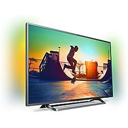 """PHILIPS 49PUS6262 - SmartTV de 49"""" 4K UHD (Ambilight, Quad core, ultraplano, HDR plus, Wifi), Negro"""
