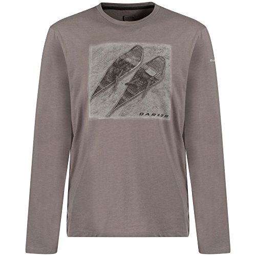 Dare 2b Mens Nostalgia Wicking Quick Dry Casual Graphic T Shirt Ash Grey
