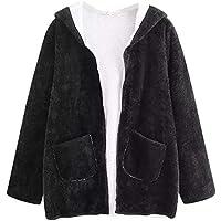 Beladla Abrigo Mujers De OtoñO Invierno Fleece Caliente Y Esponjoso Casual Bolsillo Espesar Delgado Chaqueta SuéTer Abrigo Jersey Top