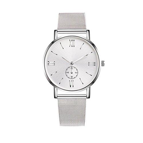 Sunnywill Edelstahl Uhren Crystal Analog Quartz Armband Armbanduhr