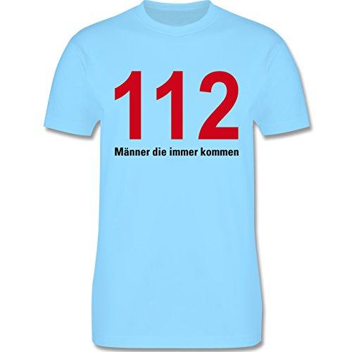 Feuerwehr - 112 - Männer die immer kommen - Herren Premium T-Shirt Hellblau