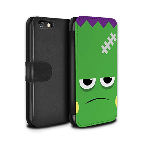 Stuff4 Coque/Etui/Housse Cuir PU Case/Cover pour Apple iPhone 5C / Frankenstein Design / Personnage Halloween Collection Frankenstein