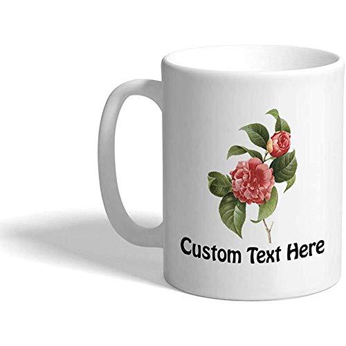 Gewohnheit Kaffeetasse 330 ml Botanische keramische Tee-Schale der Blumen-R1 personifizierter Text