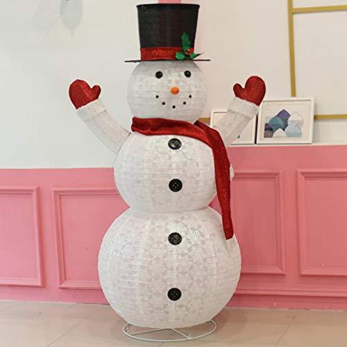 Zyx luce a led pupazzo di neve bambola decorazione decorazione natale ornamenti ferro incandescente borsa pupazzo di neve telescopici interni patio esterno decorazione 1.2 m/1.8 m,180cm