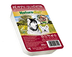 Case Of 18 Naturediet Puppy / Junior 390g Dog Food