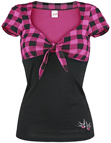 Pussy Deluxe -  T-shirt - Donna nero/rosa Small
