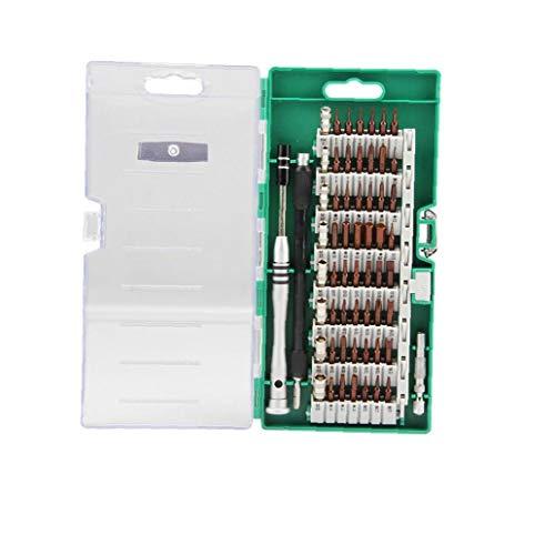 hEziJpTnA Kit del Destornillador 60 en 1 teléfono móvil Househeld Reparación Hardware Kit de Herramientas de combinación Desmontar la Herramienta Tornillo de Accesorios 1Ponga Verde