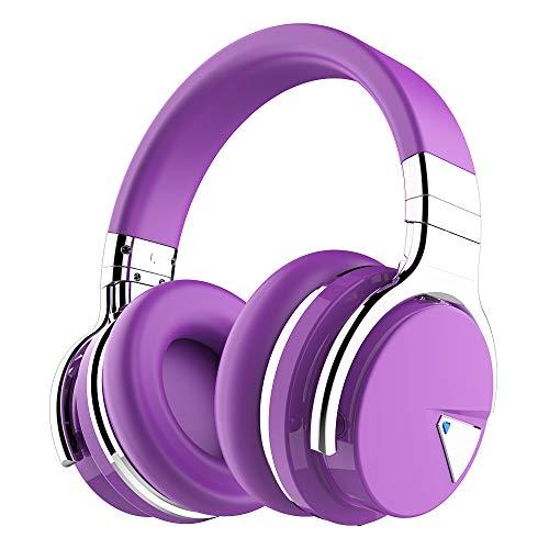 Cowin E7 Active Noise Cancelling Bluetooth Kopfhörer Over Ear Wireless Headphones mit Mikrofon, 30-Stunden-Spielzeit (Violett) -