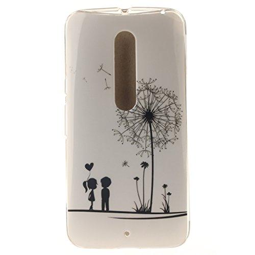 """Coque Motorola Moto X Style, SsHhUu Happy Lovers Design Ultra Slim Doux TPU Flexible Durable Gel Silicone Protecteur Painting Art Étui Housse Case Cover Pour Motorola Moto X Style 5.7"""""""
