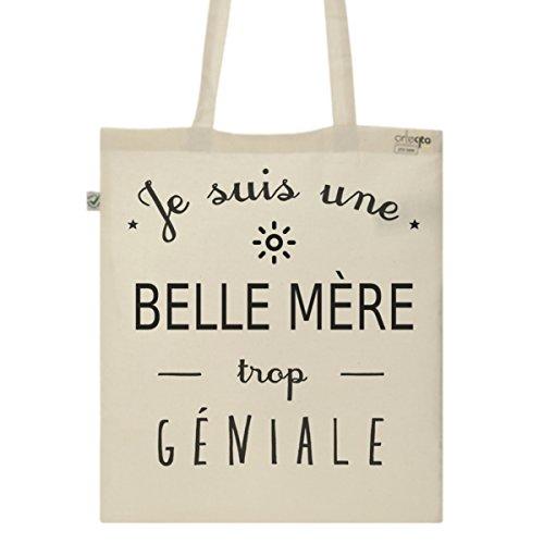 Tote Bag Imprimé Ecru - Toile en coton bio - Une Belle Mère trop géniale