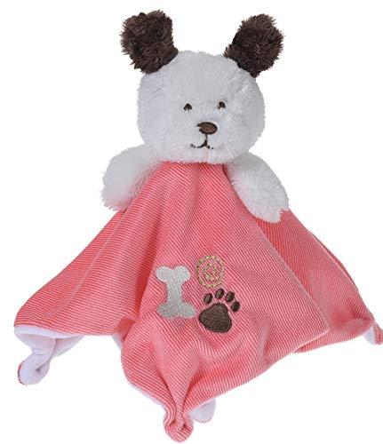 Unbekannt kuschelige Decke Hund 20 cm rosa-weiß -