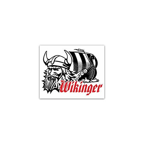 Copytec Aufkleber/Sticker -Wikinger Frühmittelalter Männer Nord- und Ostseeraum Wikingerschiff Seekrieger Eroberer Plünderer Wikingerbart Emblem 9x7cm #A2253