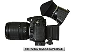 """swivi Foldable Lcd Viewfinder Canon EOS 7D 5D Mark II any DSLR 3""""LCD screen Video-DSLR 3x 3,0 Zoll (4:3) 3x LCD Viewfinder Loupe"""