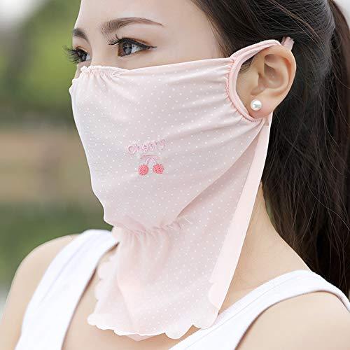 Preisvergleich Produktbild IOIOA Gesichtsmaske für Sonne - Sommer Outdoor-Sonnenschutzmasken Großflächige UV-Schutzmaske für den Hals. Atmungsaktive Sonnenschutzmaske, I, 1PCS