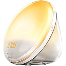 Philips Wake-up Light Alarm Clock with Coloured Sunrise Simulation, 7 Natural Sounds & Radio Function - HF3531/01