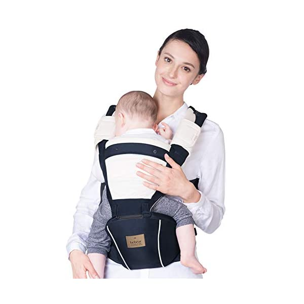 "Bebamour Baby Carrier Hip Seat 5 Carry Ways with Detachable Seat Breathable Baby Carrier for Newborn (Denium Blue) bebear ★ PROMISED QUALITY AND FABRIC - The baby carrier is made with 100% polyester with breathable cotton make baby feel comfortable and cozy. ★ ERGONOMIC DESIGNED - Although it is a baby carrier hipseat, it also is designed according to baby's growth. Suit for baby who is 0-36 months and whose capacity is between 0-33lbs (14.9KG). ★ LIGHTWEIGHT WITH 5 CARRY WAYS - Size of the baby carrier is L11.8""*H9.8""*W7.1""(L20*H25*W18CM); Weight is about 1.2lbs (0.58KG); You can use it by 5 carry ways, details in paper instruction manual. 2"