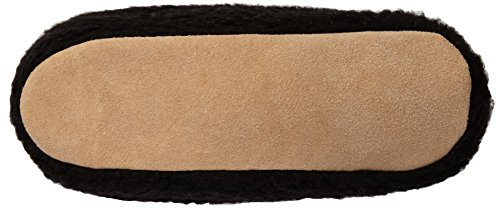 Woolsies Yeti Natural Wool Slipper Booties, Pantofole, Unisex Adulti Negro (Negro)