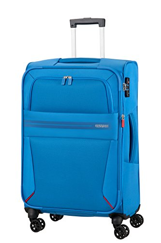 AMERICAN TOURISTER Summer Voyager - Spinner 68/25 Expandable Hand Luggage, 68 cm, 67.5 liters, Blue (Breeze Blue)