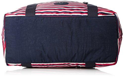 Kipling - ART M - Borsa da viaggio media - Black - (Nero) Multicolore (Sugar Stripe)