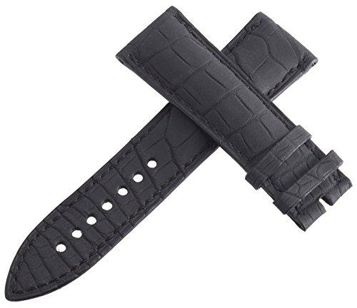 Blancpain Uhrenarmband schwarz Alligator Herren 23mm x 20mm