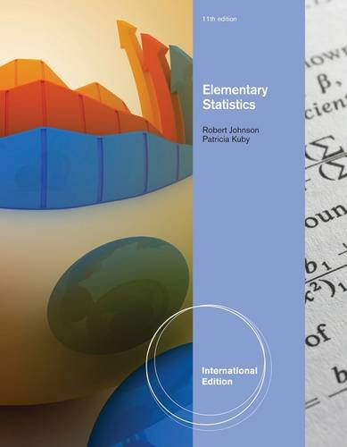 Elementary Statistics. Robert Johnson, Patricia Kuby (International Edition)