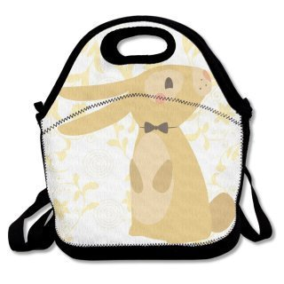 Girls Boys Food Lunch Tote Cute Rabbit With Backpacks Snack For Teen Adult Kids Children Picnic School Work Portable Reusable Handbag Bags Boxes Lunchbox Outdoor Totes
