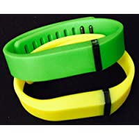 Comparador de precios ! Large L 1pc Green 1pc Yellow Replacement Bands + 1pc Free Large Grey Band With Clasp for Fitbit FLEX Only /No tracker/ Wireless Activity Bracelet Sport Wristband Fit Bit Flex Bracelet Sport Arm Band Armband - precios baratos