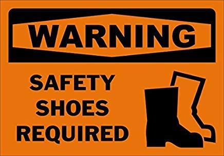 Warnschild für Sicherheitsschuhe erforderlich, Hauseigentum, Metallschilder, Aluminium, 20,3 x 30,5 cm -