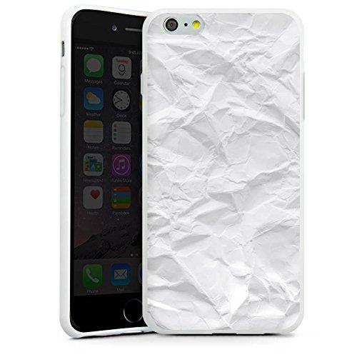 Apple iPhone X Silikon Hülle Case Schutzhülle Papier Blatt Muster Silikon Case weiß