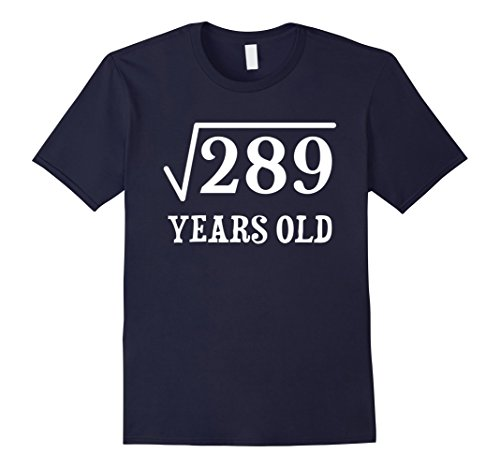 mens-square-root-of-289-17-yrs-years-old-17th-birthday-t-shirt-medium-navy