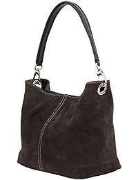 AMBRA Moda Mujer ante bolso, bolsa, bolso, bolsa de hombro, wl807