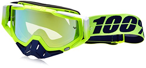 Inconnu 100% racecraft-Tanaka Maske-MTB Unisex Erwachsene, gelb/blau -