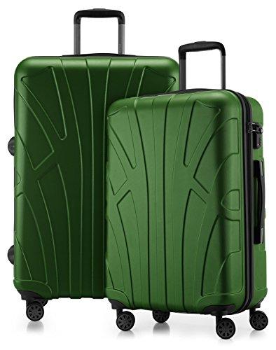 Suitline - 2er Koffer-Set Trolley-Set Rollkoffer Hartschalen-Koffer Reisekoffer, TSA, (66 cm, 76 cm), 100{6e93aa061ecc6f6b465193233ce67dbe24dcdc1242f0fbe092d907edb2813b11} ABS, Matt