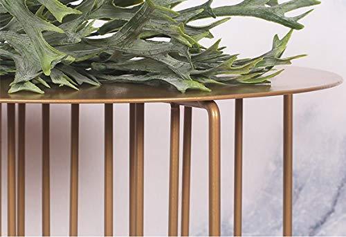 AKMQBZ Nordic Designer in ferro battuto Flower Stand Soggiorno semplice divano lato creativo Diversi ripiani Display Stand, senza bisogno di perforare